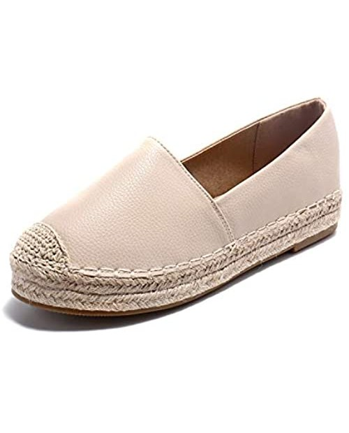 Alexis Leroy Women Closed Toe Slip On Casual Espadrilles Loafer Flat Comfort Shoes