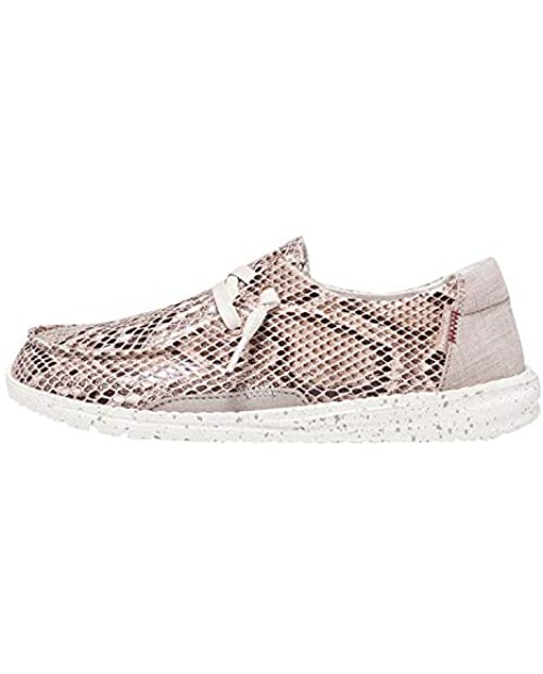Hey Dude Women's Wendy Python Light Rose Size