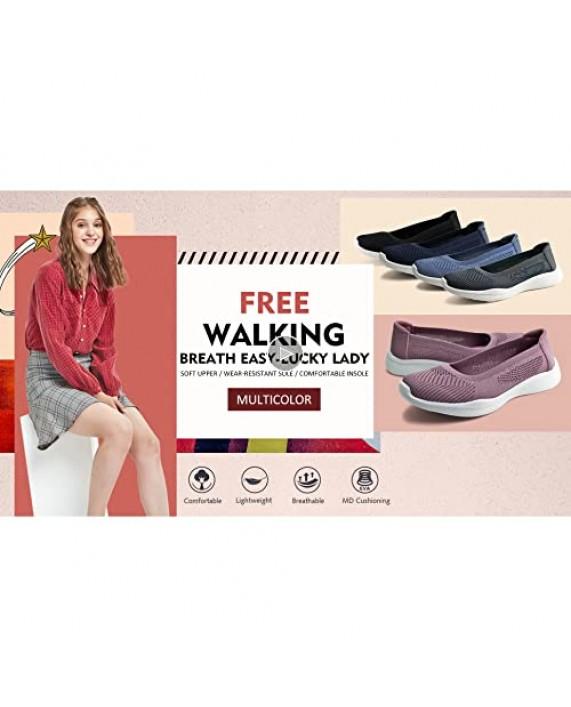 JABASIC Women Slip On Knit Loafers Comfortable Walking Flat Shoes