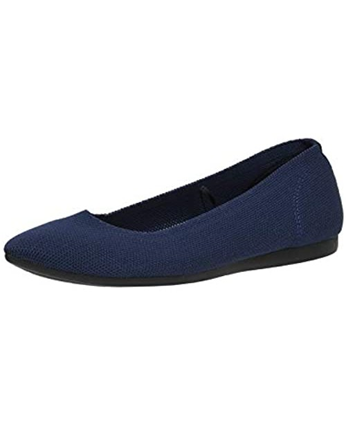 CUSHIONAIRE Women's Ensley Knit Flat +Memory Foam and Wide Widths Available