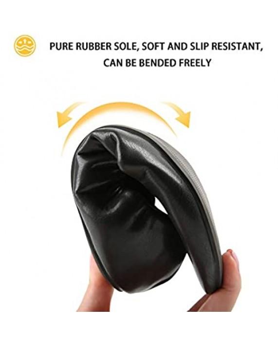 MUSSHOE Ballet Shoes for Women Elastic Flats Foldable Slip On Shoes Portable Travel Womens Flats