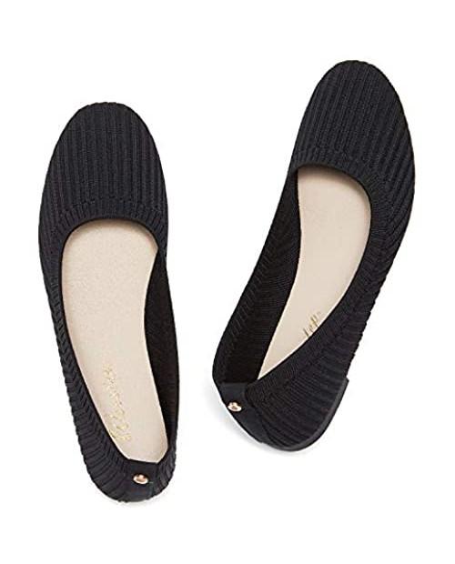 Weestep Women Lightweight Comfort Knit Ballerina Flats