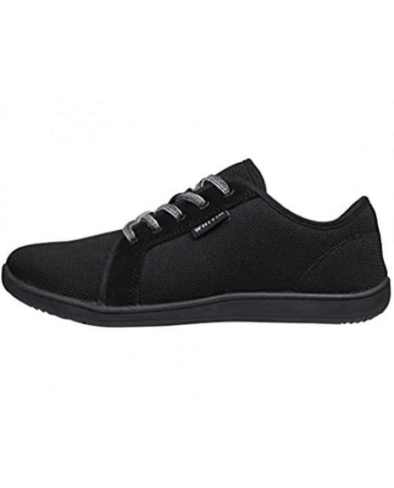 WHITIN Women's Minimalist Barefoot Sneakers - Arch Support - Lace Up Wide Fit