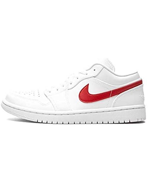 Jordan Women's Shoes Nike 1 Low White University Red AO9944-161