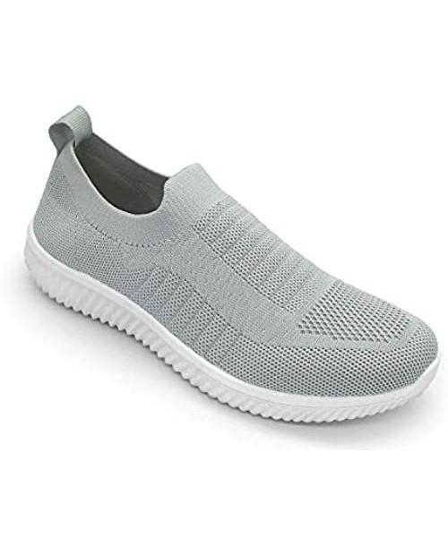 EozLink Womens Walking Shoes - Casual Slip on Sneakers Breathable Knit Flat Walking Sock Shoes Sneakers for Women