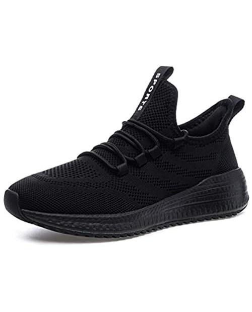 IPETSUN Women's Running Walking Shoes - Lightweight Memory Foam Sole Gym Tennis Breathable Mesh Sneakers Casual Shoes