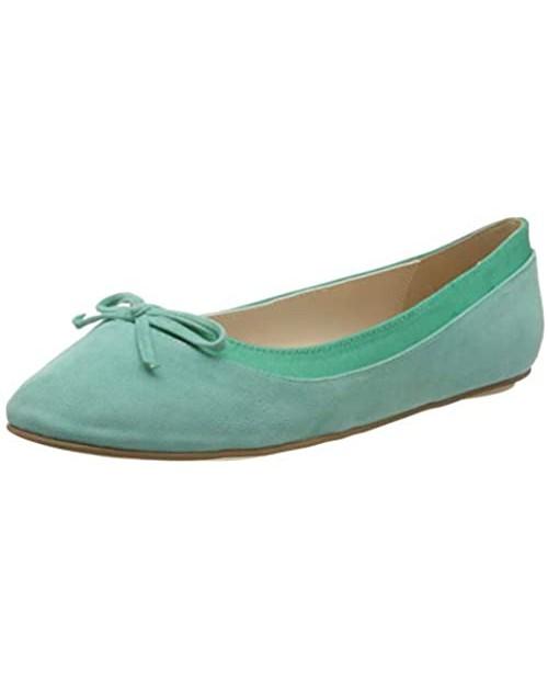 Buffalo Women's Closed Toe Ballet Flats Green Mint 001