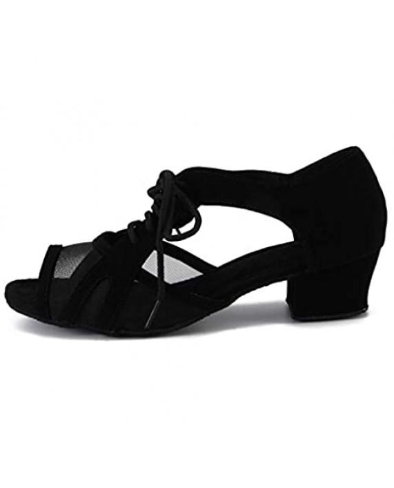 Cheery Ball Women Ballroom Dance Practice Shoes Cuban Heel