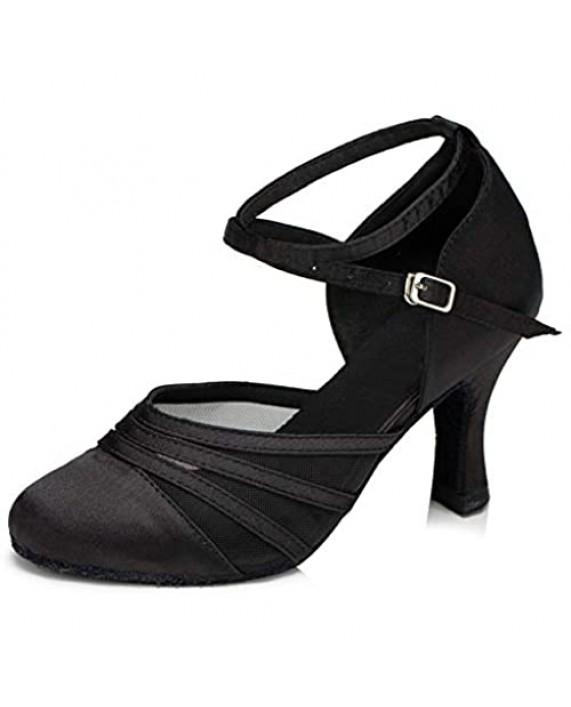 DKZSYIM Women's Latin Dance Shoes Ballroom Performance Shoes Model YCL189