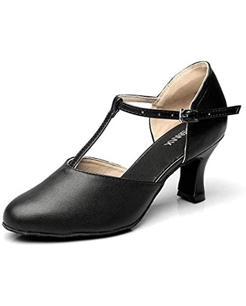 Girls Latin Shoe Women's Professional Leather Ballroom Modern Character Dance Wedding Pump Shoes
