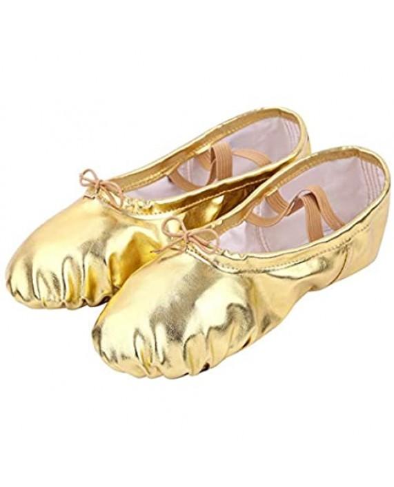 Nexete Ballet Shoe Split-Sole Slipper Flats Ballet Dance Shoes for Toddler Girl Kid Women