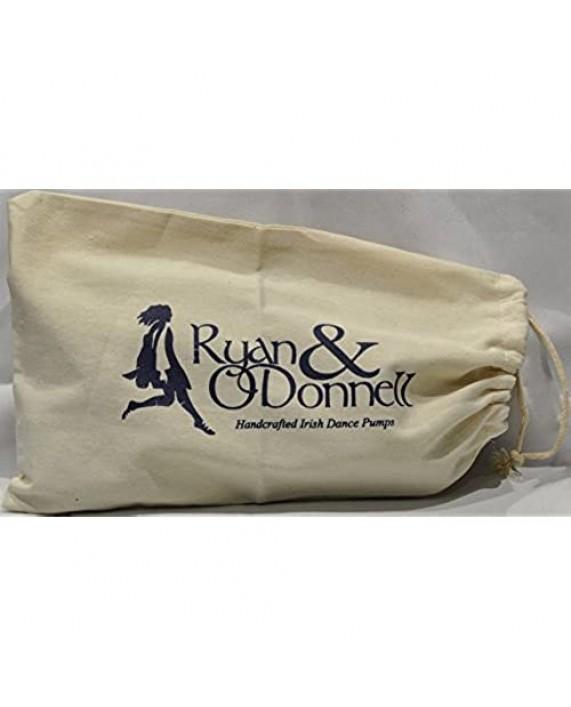RYAN AND ODONNELL Girls Diamond Black Leather Irish Dance Pumps 5.5 UK