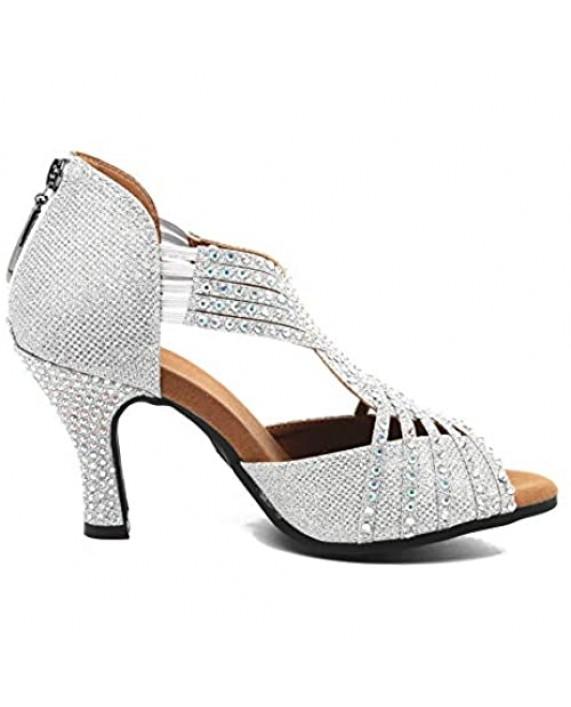 Women Rhinestone Ballroom Dance Shoes Ballroom Latin rhinestone shoes stage dance shoes