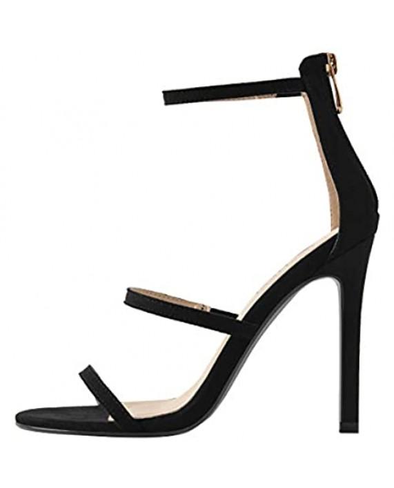 MissHeel Strappy Sand Beige Heels Stiletto Sandals