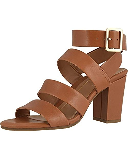 Vionic Women's Perk Blaire Open Toe Heel - Ladies Strappy Sandal with Concealed Orthotic Arch Support