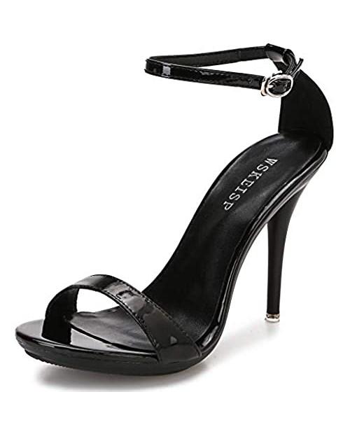 Women's Platform Heels Sandals Open Toe Ankle Strap Elegant Wedding Party Sexy Dress Stiletto Heeled High Heels Pumps