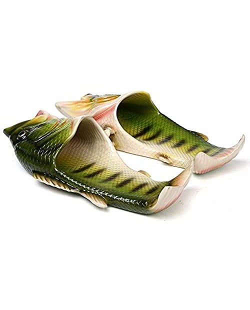HEEMAA - 4 Colours Fish Slippers Beach Shoes Non-Slip Sandals Creative Fish Slippers Men and Women Casual Shoe