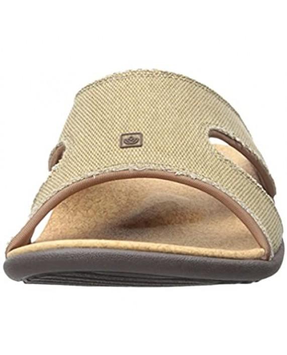 Spenco Men's Kholo Slide Sandal Straw/Java/Cork 9 M