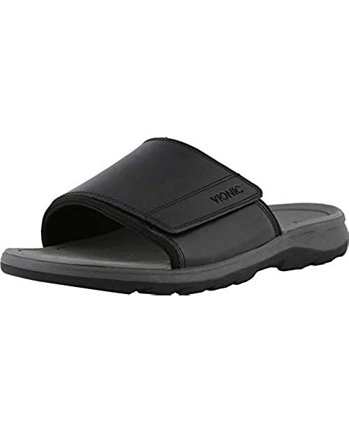 Vionic Men's Canoe Stanley Slide Sandal with Concealed Orthotic Arch Support