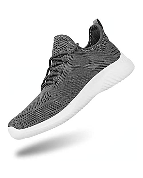 Flysocks Slip On Sneakers for Men-Fashion Sneakers Walking Shoes Non Slip Lightweight Breathable Mesh Running Shoes Comfortable