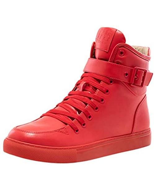 JUMP J75 Men's Sullivan-2 Light Weight | Stylish | Side Zipper | High-top Fashion Sneakers | Running | Walking | Tennis | Athletic Shoes for Men