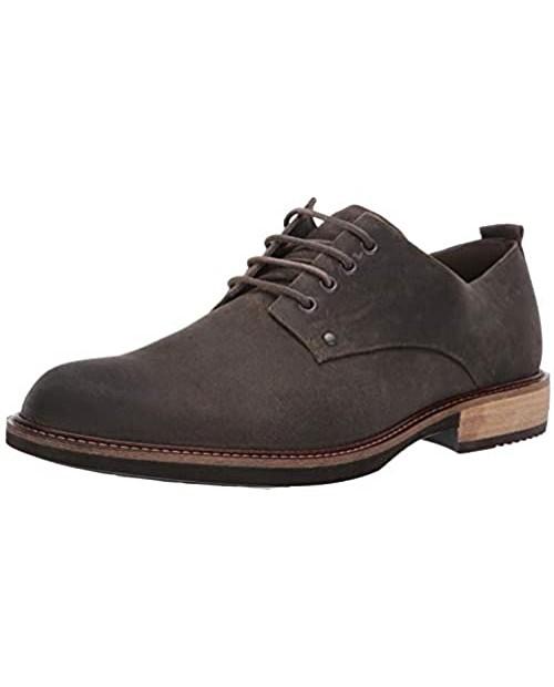 ECCO Men's Kenton Plain Toe Tie Oxford Black Artisan