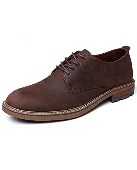 Mens Dress Shoes Lace Up Plain Toe Leather Oxford