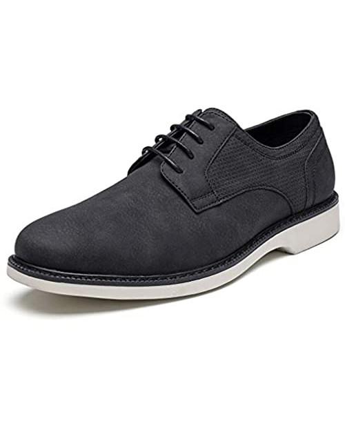 Mens Dress Shoes Men's Classic Modern Formal Plain Toe Oxfords Wingtip Lace Up Dress Shoes Men's Casual Business Shoes Lightweight Comfortable