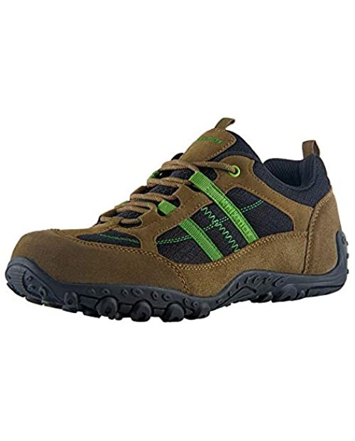 Knixmax Men's Hiking Shoes Lightweight Walking Trekking Shoes Breathable Approach Shoes Brown