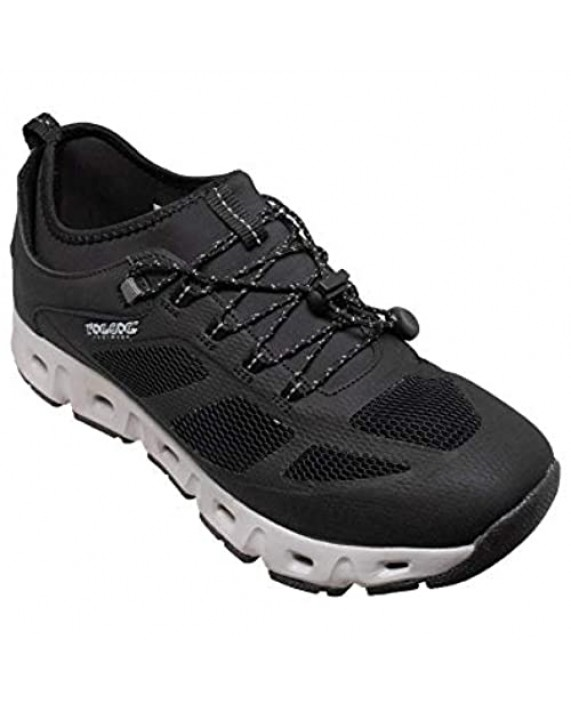RocSoc Men's Trail Hiker Quick Dry Aqua Water Shoe Breathable Mesh Up Casual Lightweight Outdoor Summer Hiking Shoe for Men