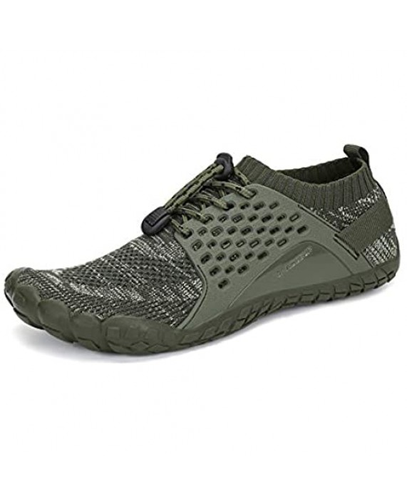 SAJOMCE Mens Womens Trail Running Shoes Minimalist Walking Barefoot Shoes Cross Trainers Hiking Shoes Wide Toe Box