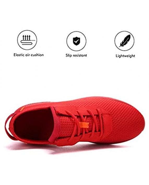 Tasdaker Athletic Walking Shoes for Men - Lightweight Tennis Sports Running Shoes Gym Jogging Slip On Running Sneakers