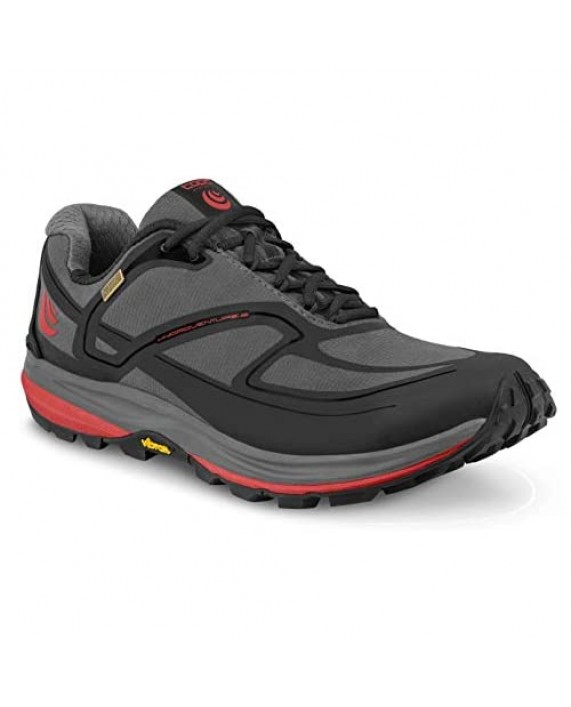 Topo Athletic Mens Hydroventure 2 Color: Charcoal/Red Size: 9 (M027-090-CHARED)