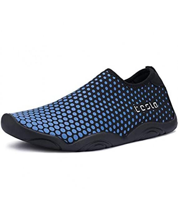TSLA Men & Women Slip-On Quick-Dry Beach Aqua Shoes