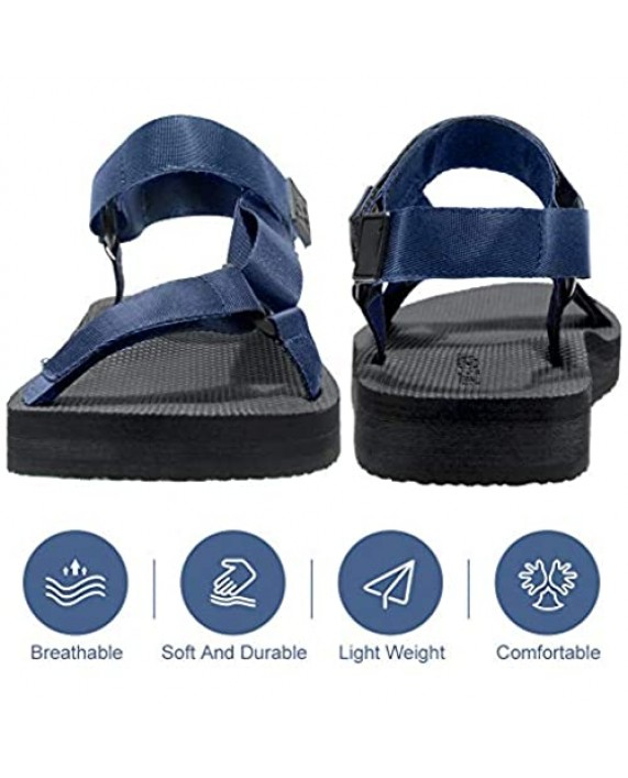 CAMELSPORTS Men's Summer Sports Sandals Outdoor Strap Athletic Sandals Comfortable Beach Fisherman Water Shoes