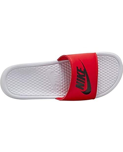 Nike Men's Benassi JDI Slide Sandals - 343880-109 - White/Black-University Red