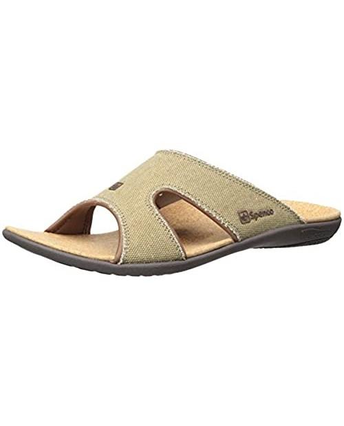 Spenco Men's Kholo Slide Sandal Straw/Java/Cork 12M US