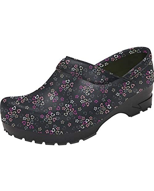 Anywear SRANGEL Women's Healthcare Professional Closed Back Clog 8 Lucky in Love