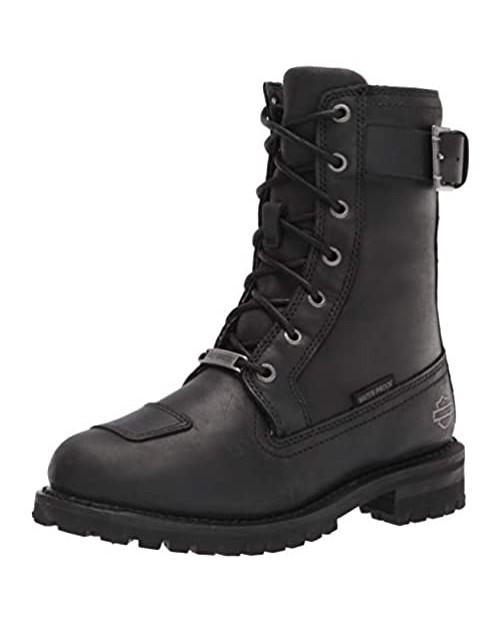 "HARLEY-DAVIDSON FOOTWEAR Women's Bremerton 7"" lace Motorcycle Boot Black"