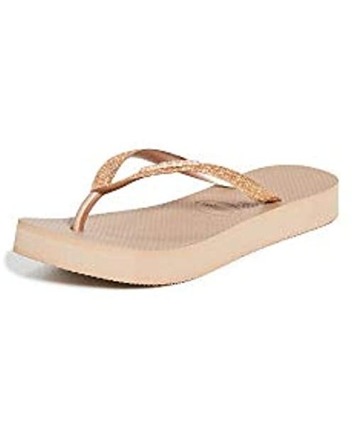 Havaianas Women's Slim Flatform Glitter Sandals