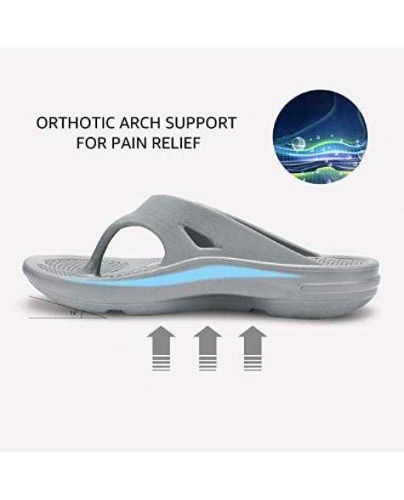STQ Womens Arch Support Flip Flops Sport Recovery Thong Sandals