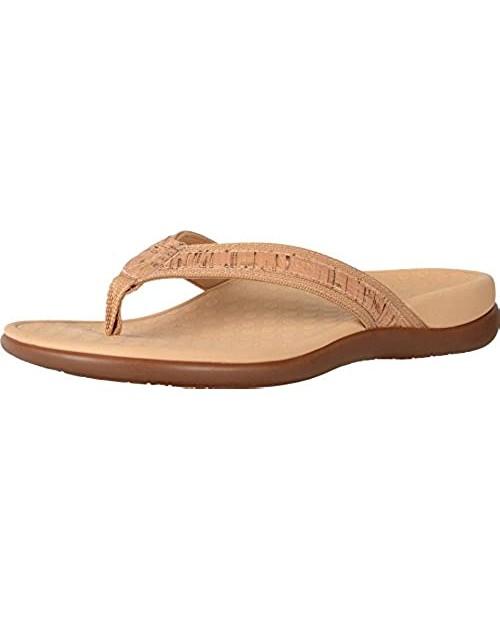 Vionic Tide II - Women's Leather Orthotic Sandals - Ortha Gold Cork - 6 Medium