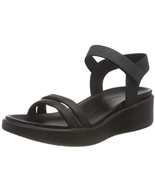 ECCO Women's Flowt Luxery Wedge Ankle Strap Sandal