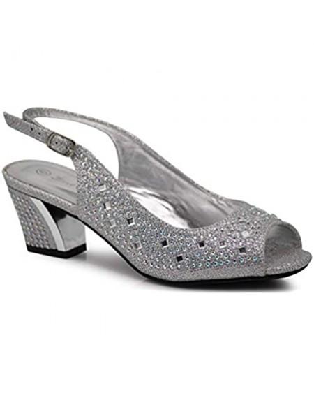 Enzo Romeo Lime01 Womens Open Toe Low Heel Wedding Rhinestone Wedge Sandal Shoes