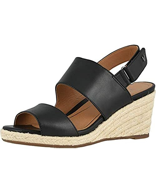 Vionic Women's Brooke Wedge Sandals - Espadrille with Concealed Orthotic Arch Support