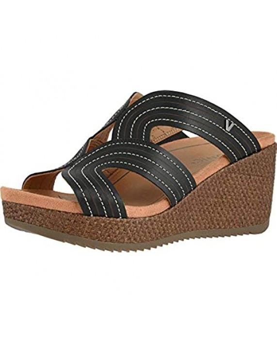 Vionic Women's Malorie Raffia Natural Wedges - Ladies Platform Sandals with Concealed Orthotic Arch Support