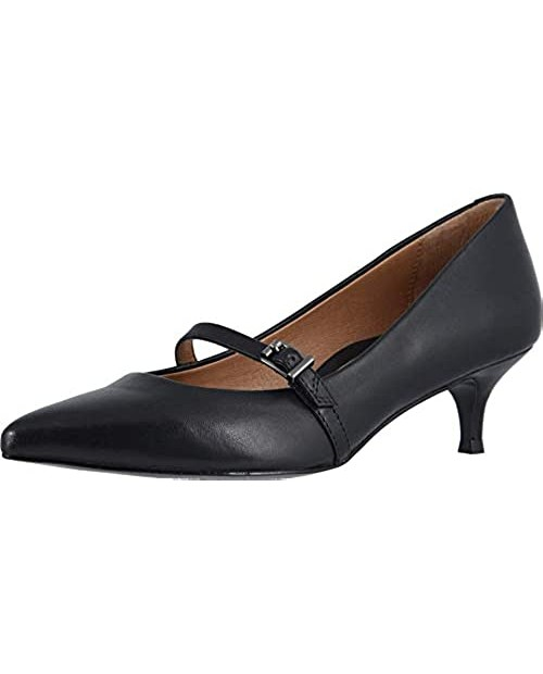 Vionic Women's Kit Minnie Mary Jane Heel - Ladies Kitten Heels with Concealed Orthotic Arch Support